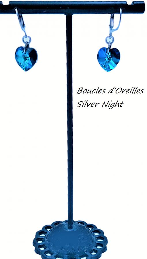 Boucle d'Oreille - Emerald Blue